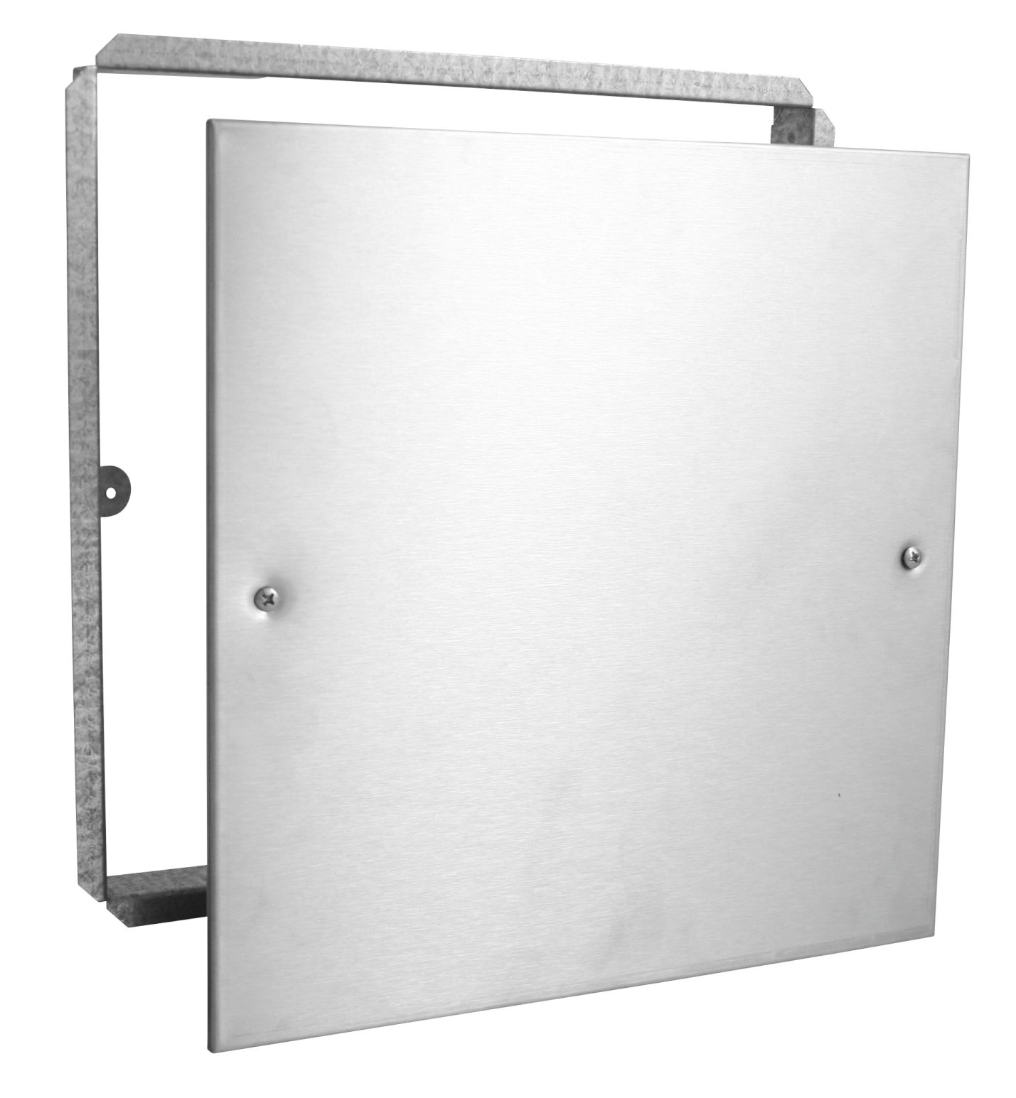 Stainless Access Doors : Stainless steel access panels with frame and screws